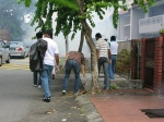 Cleaning in progress to transform Gasing Indah intio a Dengue Free Zone