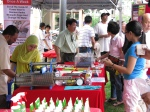 Curious participants checking the Dengue apparatus & information booth