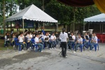 SMK (P) Tmn Petaling School band playing at the Dengue event